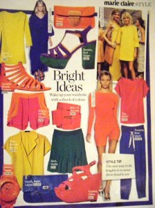 Brights spread in February's Marie Claire