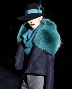 Gucci 1940s fur collar, Autumn/Winter 2011