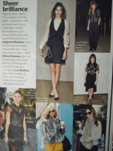 Sheer photo spread, InStyle January 2012